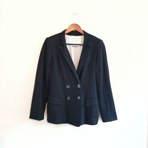 Anthropologie Cartonnier Black Cotton Blazer